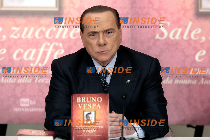 Silvio Berlusconi<br /> Roma 04-12-2013 Tempio do Adriano. Presentazione del libro 'Sale, zucchero e caff&egrave;'<br /> Photo Samantha Zucchi Insidefoto