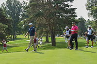 Zach Johnson (USA) and Ian Poulter (GBR) head down 3 during 2nd round of the World Golf Championships - Bridgestone Invitational, at the Firestone Country Club, Akron, Ohio. 8/3/2018.<br /> Picture: Golffile | Ken Murray<br /> <br /> <br /> All photo usage must carry mandatory copyright credit (© Golffile | Ken Murray)