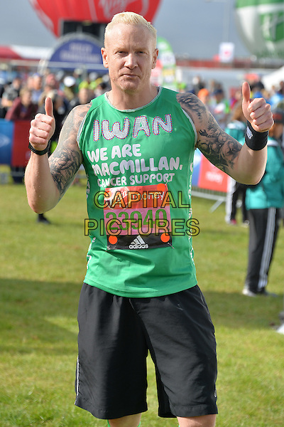 LONDON, ENGLAND - APRIL 24   Iwan Thomas at the start of the 2016 Virgin Money London Marathon on Blackheath in London, England. 24th April 2016.<br /> CAP/JWP<br /> &copy;JWP/Capital Pictures
