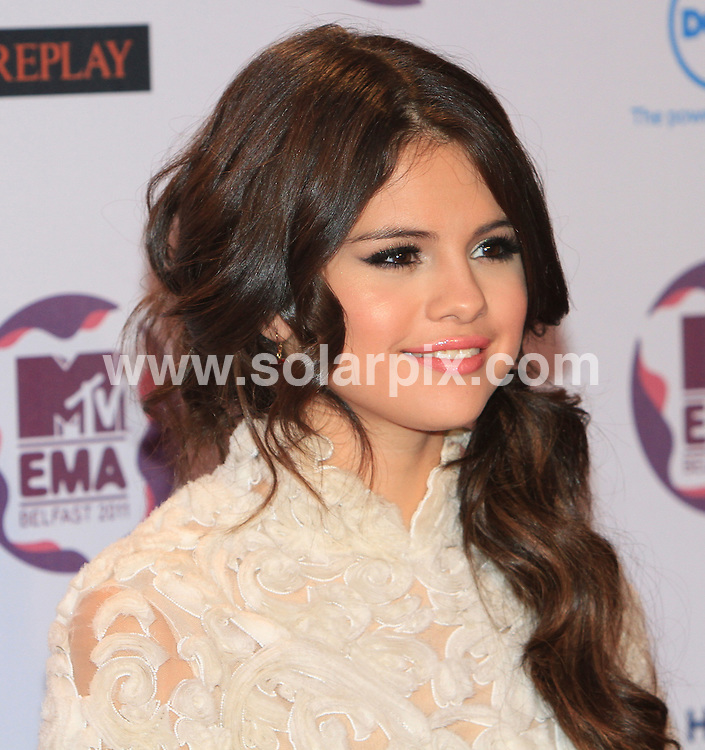 **ALL ROUND PICTURES FROM SOLARPIX.COM**                                             **WORLDWIDE SYNDICATION RIGHTS**                                                                                  MTV EMA Awards 2011_at the Odessey Arena Belfast.This pic:  Solena Gomez                                                                        .JOB REF:   14157    WMB       DATE:  07.11.11                                                          **MUST CREDIT SOLARPIX.COM OR DOUBLE FEE WILL BE CHARGED**                                                                      **MUST AGREE FEE BEFORE ONLINE USAGE**                               **CALL US ON: +34 952 811 768 or LOW RATE FROM UK 0844 617 7637**