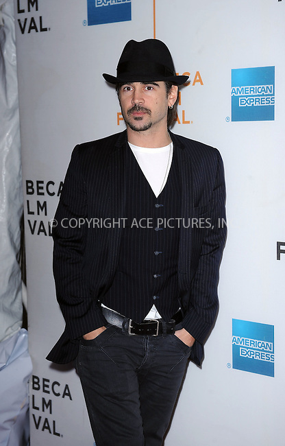 WWW.ACEPIXS.COM . . . . . ....April 28 2010, New York City....Colin Farrell arriving at the 'Ondine' premiere during the 9th Annual Tribeca Film Festival at the Tribeca Performing Arts Center on April 28, 2010 in New York City....April 28 2010, New York City....Please byline: KRISTIN CALLAHAN - ACEPIXS.COM.. . . . . . ..Ace Pictures, Inc:  ..(212) 243-8787 or (646) 679 0430..e-mail: picturedesk@acepixs.com..web: http://www.acepixs.com