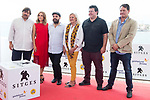 Actress Aura Garrido, director Xavier Gens and producer Denise O'Dell during photocall of 'La Piel Fria' at Sitges Film Festival in Barcelona, Spain October 11, 2017. (ALTERPHOTOS/Borja B.Hojas)
