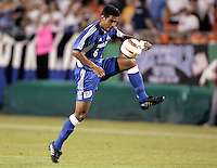 Jose Burciaga controls the ball during.Kansas City's 1-0 victory over Chicago to win the US Open Cup, at Arrowhead Stadium, in Kansas City, MO, Wednesday, Sept., 22, 2004.
