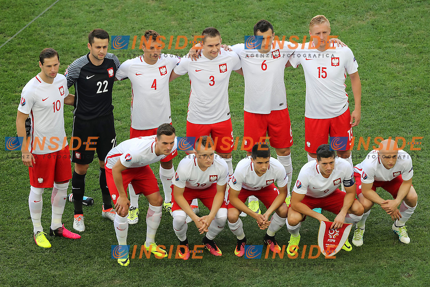 Poland line up Formazione Polonia  <br /> Marseille 21-06-2016 Stade Velodrome Football Euro2016 Ukraine - Poland  / Ucraina - Polonia Group Stage Group C. Foto Daniel Chesterton / Panoramic / Insidefoto