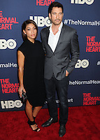 "NEW YORK CITY, NY, USA - MAY 12: Shasi Wells, Dylan McDermott at the New York Screening Of HBO's ""The Normal Heart"" held at the Ziegfeld Theater on May 12, 2014 in New York City, New York, United States. (Photo by Celebrity Monitor)"