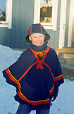 SWEDEN, Swedish Lapland, Young Happy Sami Boy