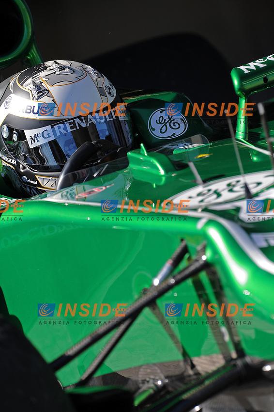Formule 1: Test  Jerez 05/02/2013.GIEDO VAN DER GARDE (NDL) -  CATERHAM CT03 - ACTION  .Jerez 05/02/2013.Formula 1 Test.Foto Insidefoto .ITALY ONLY