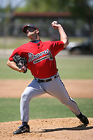 March 21st 2008:  Scott Diamond of the Atlanta Braves minor league system during Spring Training at Tiger Town in Lakeland, FL.  Photo by:  Mike Janes/Four Seam Images