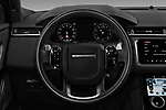 Car pictures of steering wheel view of a 2018 Land Rover Range Rover Velar R-Dynamic SE 4WD 5 Door SUV