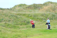 Mark Mullen (Wexford) on the 12th during Round 3 of The South of Ireland in Lahinch Golf Club on Monday 28th July 2014.<br /> Picture:  Thos Caffrey / www.golffile.ie