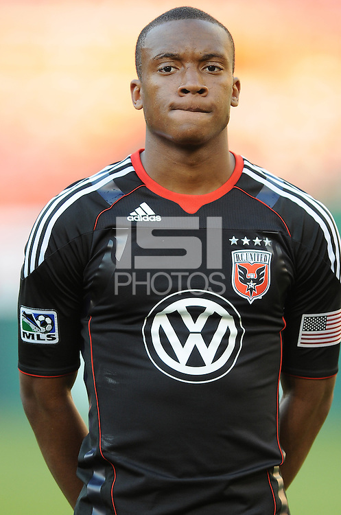 DC United defender Rodney Wallace (22).  DC United defeated The Kansas City Wizards  2-0 at RFK Stadium, Wednesday  May 5, 2010.