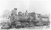 Fireman's-side view of RGS 2-8-0 #40 at Ridgway.<br /> RGS  Ridgway, CO  8/30/1940