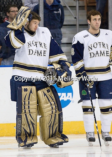 Steven Summerhays (Notre Dame - 1), Sam Calabrese (Notre Dame - 8) - The University of Notre Dame Fighting Irish defeated the University of New Hampshire Wildcats 2-1 in the NCAA Northeast Regional Final on Sunday, March 27, 2011, at Verizon Wireless Arena in Manchester, New Hampshire.