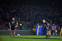 Damien McKenzie lines up a kick at goal during the 2017 DHL Lions Series rugby union match between the NZ Maori and British & Irish Lions at Rotorua International Stadium in Rotorua, New Zealand on Saturday, 17 June 2017. Photo: Dave Lintott / lintottphoto.co.nz