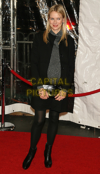 "NAOMI WATTS .New York Premiere of ""Australia"" at the Ziegfeld Theater, New York, NY, USA..November 24th, 2008.full length black coat jacket tights ankle boots grey gray silver dress belt pregnant clutch bag .CAP/LNC/TOM.©TOM/LNC/Capital Pictures."