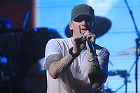 EMINEM<br /> concert at G-Shock 30th Anniversary Party<br /> at Basketball city Pier 36 South Street 8-8-2013<br /> Photo By John Barrett/PHOTOlink.net