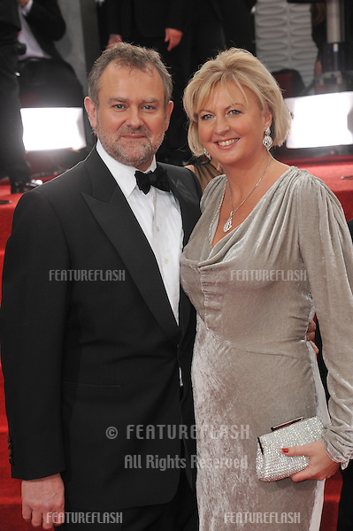 Hugh Bonneville & wife at the 69th Golden Globe Awards at the Beverly Hilton Hotel..January 15, 2012  Beverly Hills, CA.Picture: Paul Smith / Featureflash