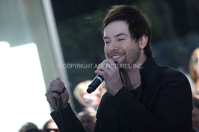 WWW.ACEPIXS.COM . . . . .....May 29, 2008. New York City.....American Idol winner David Cook performs on NBC's 'Today Show' at Rockefeller Center...  ....Please byline: Kristin Callahan - ACEPIXS.COM..... *** ***..Ace Pictures, Inc:  ..Philip Vaughan (646) 769 0430..e-mail: info@acepixs.com..web: http://www.acepixs.com