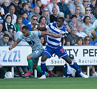 Blackburn Rovers' Elliott Bennett (left) battles with Reading's Lucas Joao (right) <br /> <br /> Photographer David Horton/CameraSport<br /> <br /> The EFL Sky Bet Championship - Reading v Blackburn Rovers - Saturday 21st September 2019 - Madejski Stadium - Reading<br /> <br /> World Copyright © 2019 CameraSport. All rights reserved. 43 Linden Ave. Countesthorpe. Leicester. England. LE8 5PG - Tel: +44 (0) 116 277 4147 - admin@camerasport.com - www.camerasport.com