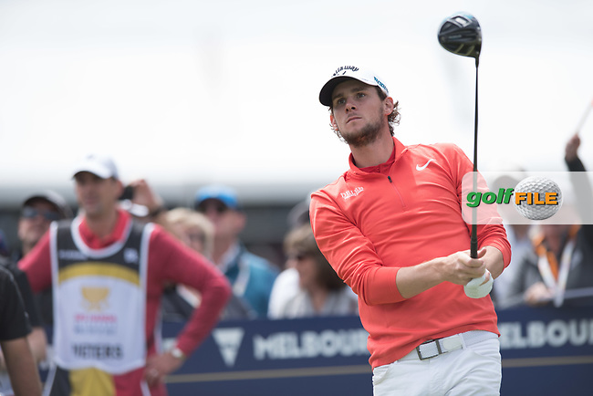 Thomas Pieters (BEL) during the final round of the World Cup of golf,  The Metropolitan Golf Club, The Metropolitan Golf Club, Victoria, Australia. 25/11/2018<br /> Picture: Golffile | Anthony Powter<br /> <br /> <br /> All photo usage must carry mandatory copyright credit (&copy; Golffile | Anthony Powter)