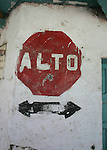 A stop sign in Guatemala.