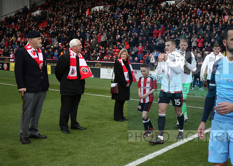 \su15 ;leads out the players during the Emirates FA Cup Round One match at Bramall Lane Stadium, Sheffield. Picture date: November 6th, 2016. Pic Simon Bellis/Sportimage