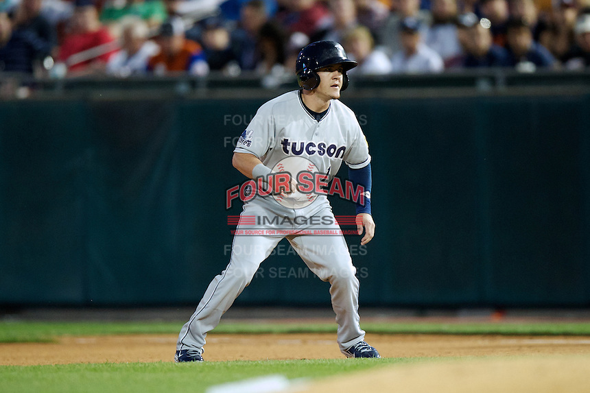 Tucson Padres outfielder Daniel Robertson #1 during the Triple-A All-Star game featuring the Pacific Coast League and International League top players at Coca-Cola Field on July 11, 2012 in Buffalo, New York.  PCL defeated the IL 3-0.  (Mike Janes/Four Seam Images)