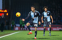 Paris Cowan-Hall of Wycombe Wanderers controls the ball during the Sky Bet League 2 match between Wycombe Wanderers and Leyton Orient at Adams Park, High Wycombe, England on 23 January 2016. Photo by Andy Rowland / PRiME Media Images.