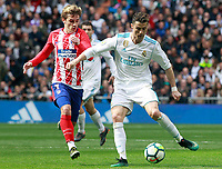 Real Madrid's Cristiano Ronaldo (r) and Atletico de Madrid's Antoine Griezmann during La Liga match. April 8,2018. (ALTERPHOTOS/Acero) /NortePhoto NORTEPHOTOMEXICO