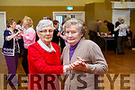 L-R Mary Nagle&Nel Murphy on the dance floor at the Slieve Luachra Active retirement network hosted by Knocknagoshel Womans group over 55s last Sunday afternoon in the community centre.