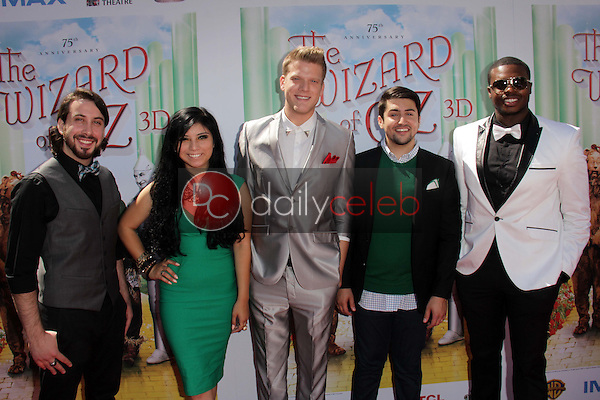 """Pentatonix<br /> at """"The Wizard Of Oz 3D"""" World Premiere Screening and Grand Opening of the TCL Chinese IMAX Theater, Chinese Theater, Hollywood, CA 09-15-13<br /> David Edwards/DailyCeleb.com 818-249-4998"""