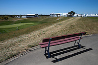 Armchair view of the 9th green during the preview days of the 2015 Alstom Open de France, played at Le Golf National, Saint-Quentin-En-Yvelines, Paris, France. /30/06/2015/. Picture: Golffile | David Lloyd<br /> <br /> All photos usage must carry mandatory copyright credit (&copy; Golffile | David Lloyd)