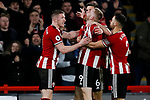Oliver McBurnie of Sheffield United celebrates scoring a goal during the Premier League match at Bramall Lane, Sheffield. Picture date: 10th January 2020. Picture credit should read: James Wilson/Sportimage