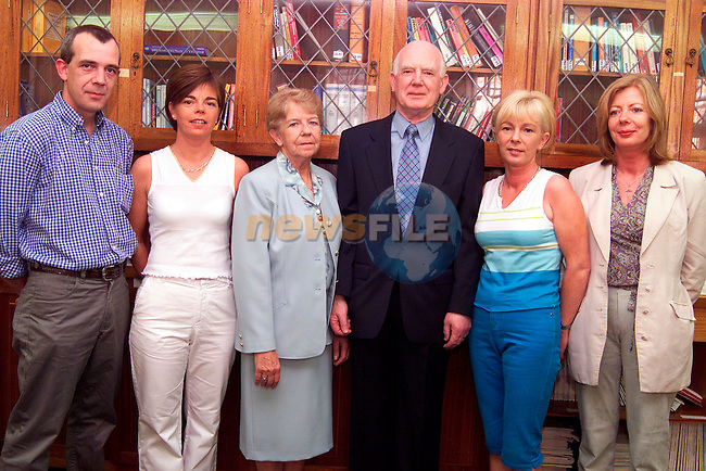 Aidan Magennis pictured with his family on the occasion of his retirement as administrator of the Louth/Meath Mental Health Service. Pictured are from left, Adrian Magennis, son, Mary Farrell, daughter, Nancy his wife, and daughters Martina Rooney and Shirley Magennis..Picture: Paul Mohan/Newsfile