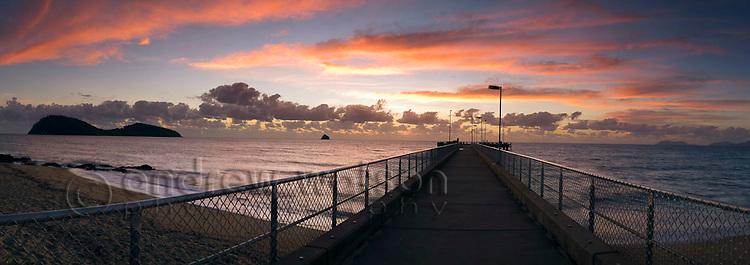 Palm Cove jetty at dawn.  Cairns, Queensland, AUSTRALIA