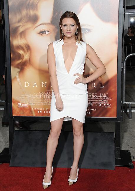 WWW.ACEPIXS.COM<br /> <br /> November 21 2015, LA<br /> <br /> Katie Stevens arriving at the premiere of Focus Features' 'The Danish Girl' at the Westwood Village Theatre on November 21, 2015 in Westwood, California. <br /> <br /> <br /> By Line: Peter West/ACE Pictures<br /> <br /> <br /> ACE Pictures, Inc.<br /> tel: 646 769 0430<br /> Email: info@acepixs.com<br /> www.acepixs.com