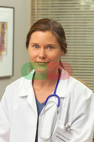 portrait of young female doctor