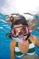 Young girl snorkeling, Florida Keys, Florida (Model Release for Maxine Beard secured and available for download)