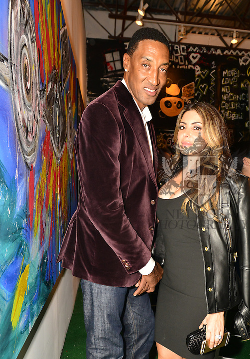 MIAMI, FL - DECEMBER 02: Scottie Pippen and Larsa Younan attends Haute Living And Zacapa Rum Present Domingo Zapata at Lulu Laboratorium on Wednesday December 2, 2015 in Miami, Florida. (Photo by Johnny Louis/jlnphotography.com)