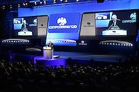 Il presidente di Confcommercio Carlo Sangalli parla all'Assemblea annuale dell'organizzazione a Roma, 19 giugno 2008..UPDATE IMAGES PRESS/Riccardo De Luca