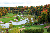 View of the Glen Abby golf course in fall colours