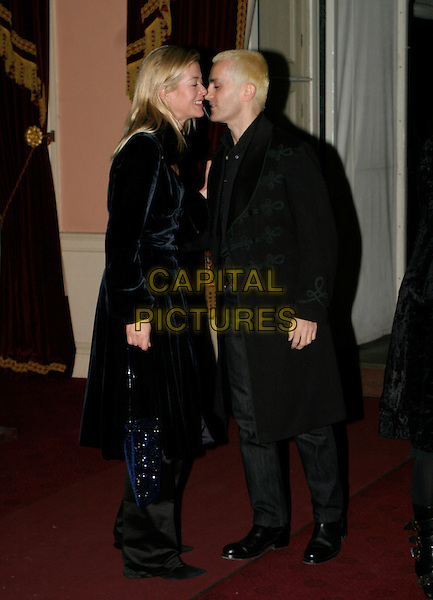 LADY HELEN TAYLOR & TIM TAYLOR.Diana, Princess of Wales By Mario Testino At Kensington Palace - private view & reception.November 22nd, 2005.Ref: AH.full length black coat kiss gesture.www.capitalpictures.com.sales@capitalpictures.com.© Capital Pictures.