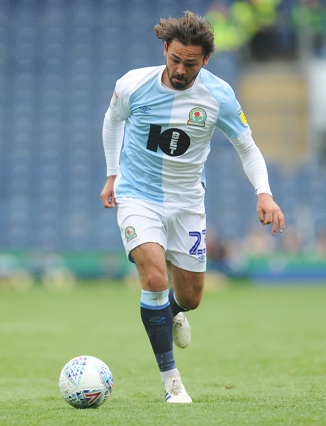 Blackburn Rovers' Bradley Dack<br /> <br /> Photographer Kevin Barnes/CameraSport<br /> <br /> The EFL Sky Bet Championship - Blackburn Rovers v Swansea City - Sunday 5th May 2019 - Ewood Park - Blackburn<br /> <br /> World Copyright © 2019 CameraSport. All rights reserved. 43 Linden Ave. Countesthorpe. Leicester. England. LE8 5PG - Tel: +44 (0) 116 277 4147 - admin@camerasport.com - www.camerasport.com