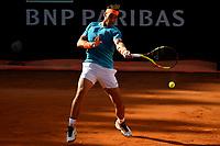 Rafael Nadal of Spain in action during the men's final match against Novak Djokovic of Serbia. Rafael Nadal won 6-0, 4-6, 6-1 <br /> Roma 19/05/2019 Foro Italico  <br /> Internazionali BNL D'Italia Italian Open <br /> Photo Andrea Staccioli / Insidefoto