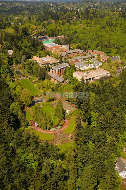 Aerial View of Lewis and Clark College, Portland, Oregon