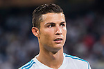 Cristiano Ronaldo of Real Madrid looks on during the Santiago Bernabeu Trophy 2017 match between Real Madrid and ACF Fiorentina at the Santiago Bernabeu Stadium on 23 August 2017 in Madrid, Spain. Photo by Diego Gonzalez / Power Sport Images