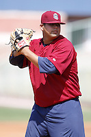 June 24, 2009:  Pitcher Guido Fonseca of the Mahoning Valley Scrappers during a game at Eastwood Field in Niles, OH.  The Scrappers are the NY-Penn League Short-Season Single-A affiliate of the Cleveland Indians.  Photo by:  Mike Janes/Four Seam Images