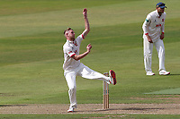 Jamie Porter in bowling action for Essex during Warwickshire CCC vs Essex CCC, Specsavers County Championship Division 1 Cricket at Edgbaston Stadium on 10th September 2019