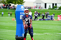 June 7, 2017: New England Patriots defensive back Dwayne Thomas (27) drops the ball at the New England Patriots mini camp held on the practice field at Gillette Stadium, in Foxborough, Massachusetts. Eric Canha/CSM