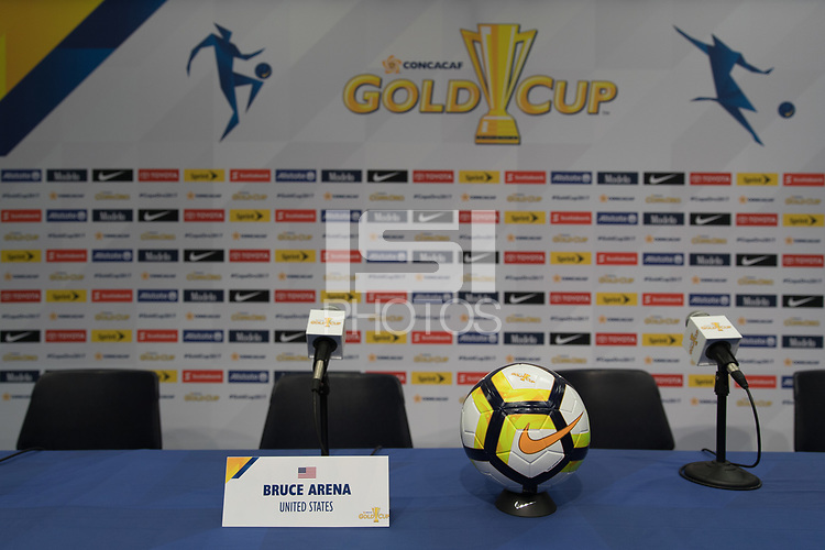 Nashville, TN - July 7, 2017: Press Conference during Official Training @ Nissan Stadium prior to their 2017 Gold Cup.